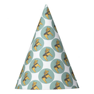 Hest Creative - Teal Circle Party Hat