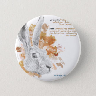 Hester, Hare Daemon from His Dark Materials 2 Inch Round Button