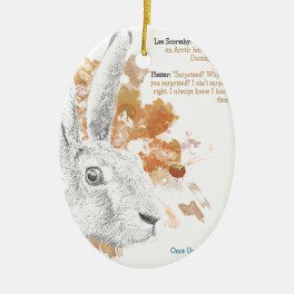 Hester, Hare Daemon from His Dark Materials Ceramic Ornament