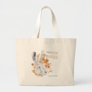 Hester, Hare Daemon from His Dark Materials Large Tote Bag