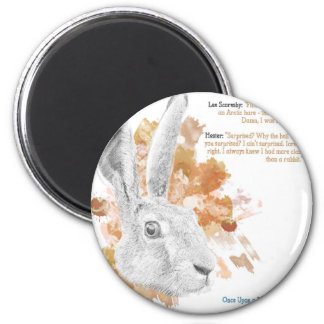 Hester, Hare Daemon from His Dark Materials Magnet