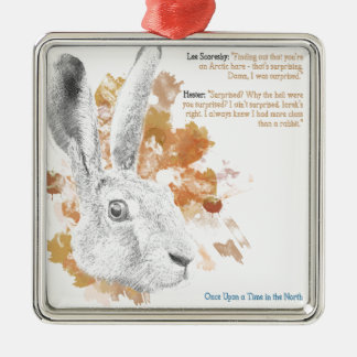 Hester, Hare Daemon from His Dark Materials Metal Ornament