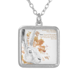 Hester, Hare Daemon from His Dark Materials Silver Plated Necklace