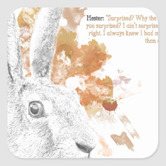 Hester, Hare Daemon from His Dark Materials Square Sticker