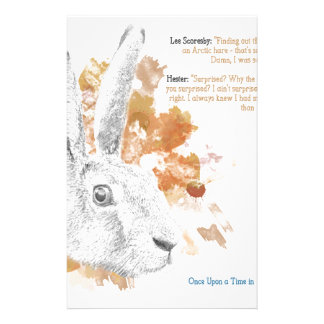 Hester, Hare Daemon from His Dark Materials Stationery
