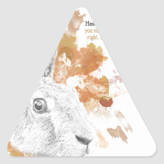 Hester, Hare Daemon from His Dark Materials Triangle Sticker