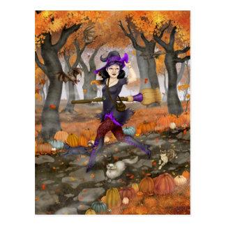 Hester's Autumn Adventure Postcard