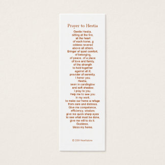 Hestia Prayer Card