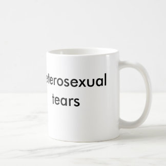 heterosexual tears coffee mug