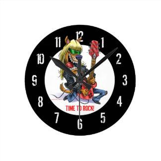 Heure de basculer l'horloge murale