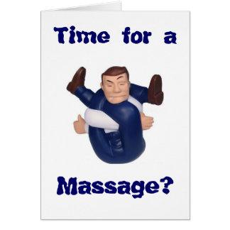Heure pour un massage ? masquez l'intérieur I n… Carte De Correspondance