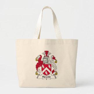 Hewitt Family Crest Jumbo Tote Bag
