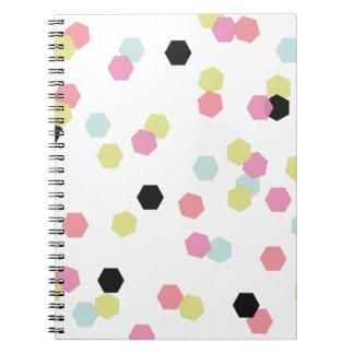 Hex Confetti Notebook