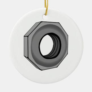 Hex Nut Ceramic Ornament