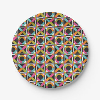 Hex Oh! Hex Quilt Pattern Paper Plate