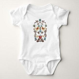 Hex Sign Birds Amish Americana Baby Bodysuit