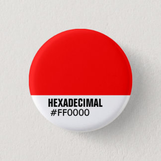 HEXADECIMAL Color Template - Customized 1 Inch Round Button