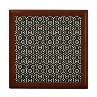 HEXAGON1 BLACK MARBLE & BEIGE LINEN GIFT BOX