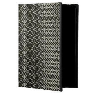 HEXAGON1 BLACK MARBLE & BEIGE LINEN POWIS iPad AIR 2 CASE