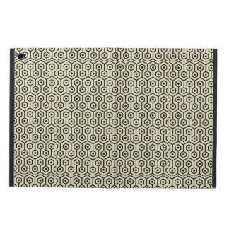 HEXAGON1 BLACK MARBLE & BEIGE LINEN (R) iPad AIR COVER