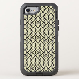 HEXAGON1 BLACK MARBLE & BEIGE LINEN (R) OtterBox DEFENDER iPhone 8/7 CASE