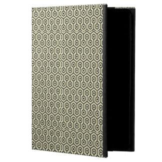 HEXAGON1 BLACK MARBLE & BEIGE LINEN (R) POWIS iPad AIR 2 CASE