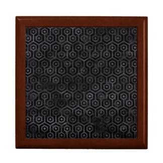 HEXAGON1 BLACK MARBLE & BLACK WATERCOLOR GIFT BOX