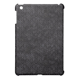 HEXAGON1 BLACK MARBLE & BLACK WATERCOLOR iPad MINI CASE