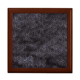 HEXAGON1 BLACK MARBLE & BLACK WATERCOLOR (R) GIFT BOX