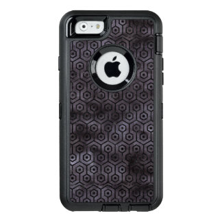 HEXAGON1 BLACK MARBLE & BLACK WATERCOLOR (R) OtterBox DEFENDER iPhone CASE