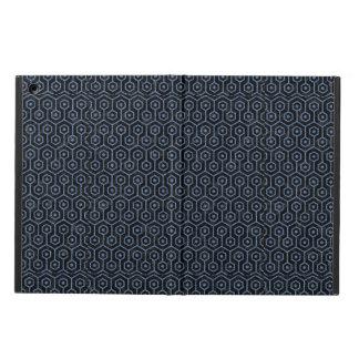 HEXAGON1 BLACK MARBLE & BLUE DENIM iPad AIR COVER