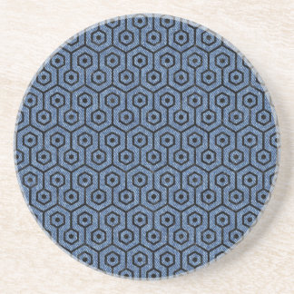 HEXAGON1 BLACK MARBLE & BLUE DENIM (R) COASTER