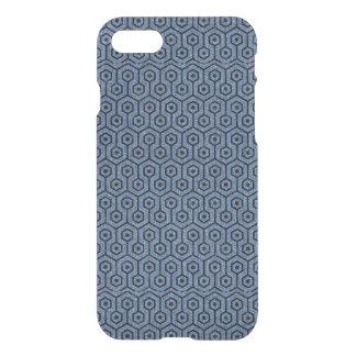 HEXAGON1 BLACK MARBLE & BLUE DENIM (R) iPhone 8/7 CASE