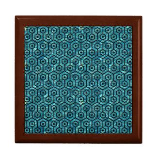 HEXAGON1 BLACK MARBLE & BLUE-GREEN WATER (R) GIFT BOX