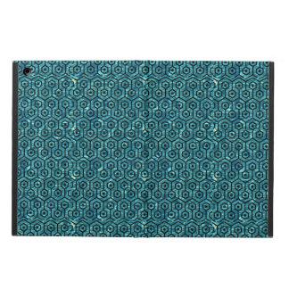 HEXAGON1 BLACK MARBLE & BLUE-GREEN WATER (R) iPad AIR CASE