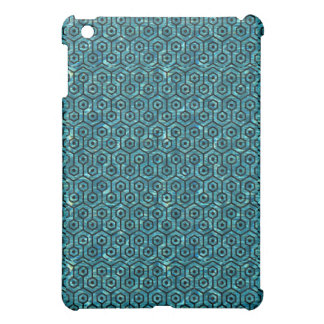 HEXAGON1 BLACK MARBLE & BLUE-GREEN WATER (R) iPad MINI COVER