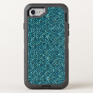 HEXAGON1 BLACK MARBLE & BLUE-GREEN WATER (R) OtterBox DEFENDER iPhone 8/7 CASE