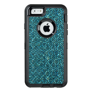 HEXAGON1 BLACK MARBLE & BLUE-GREEN WATER (R) OtterBox DEFENDER iPhone CASE