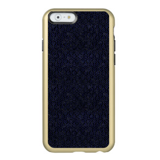 HEXAGON1 BLACK MARBLE & BLUE LEATHER INCIPIO FEATHER® SHINE iPhone 6 CASE