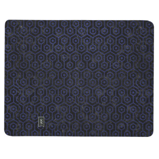 HEXAGON1 BLACK MARBLE & BLUE LEATHER JOURNAL