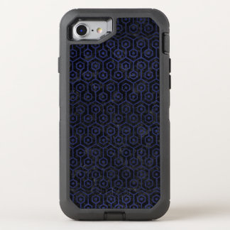 HEXAGON1 BLACK MARBLE & BLUE LEATHER OtterBox DEFENDER iPhone 8/7 CASE