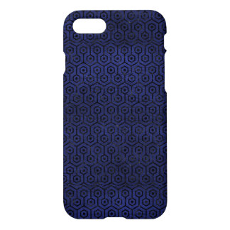 HEXAGON1 BLACK MARBLE & BLUE LEATHER (R) iPhone 8/7 CASE