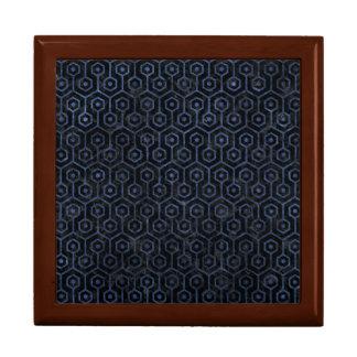HEXAGON1 BLACK MARBLE & BLUE STONE GIFT BOX