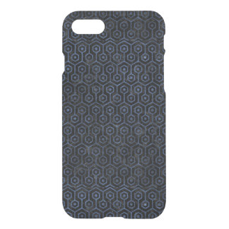 HEXAGON1 BLACK MARBLE & BLUE STONE iPhone 8/7 CASE
