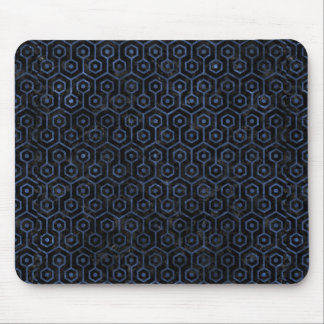 HEXAGON1 BLACK MARBLE & BLUE STONE MOUSE PAD