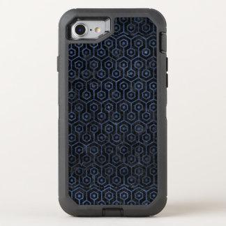 HEXAGON1 BLACK MARBLE & BLUE STONE OtterBox DEFENDER iPhone 8/7 CASE