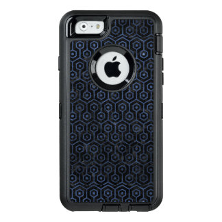 HEXAGON1 BLACK MARBLE & BLUE STONE OtterBox DEFENDER iPhone CASE