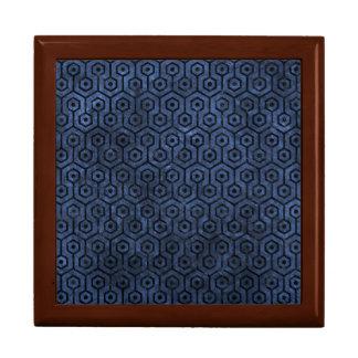 HEXAGON1 BLACK MARBLE & BLUE STONE (R) GIFT BOX