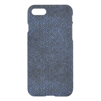 HEXAGON1 BLACK MARBLE & BLUE STONE (R) iPhone 8/7 CASE