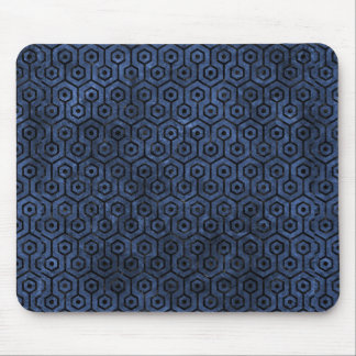 HEXAGON1 BLACK MARBLE & BLUE STONE (R) MOUSE PAD